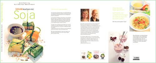 "Frontcover vom Kochbuch ""Vegan kochen mit Soja"""